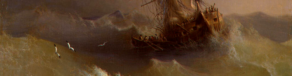 Image of Ivan Aivazovsky's painting Ship in the Stormy Sea