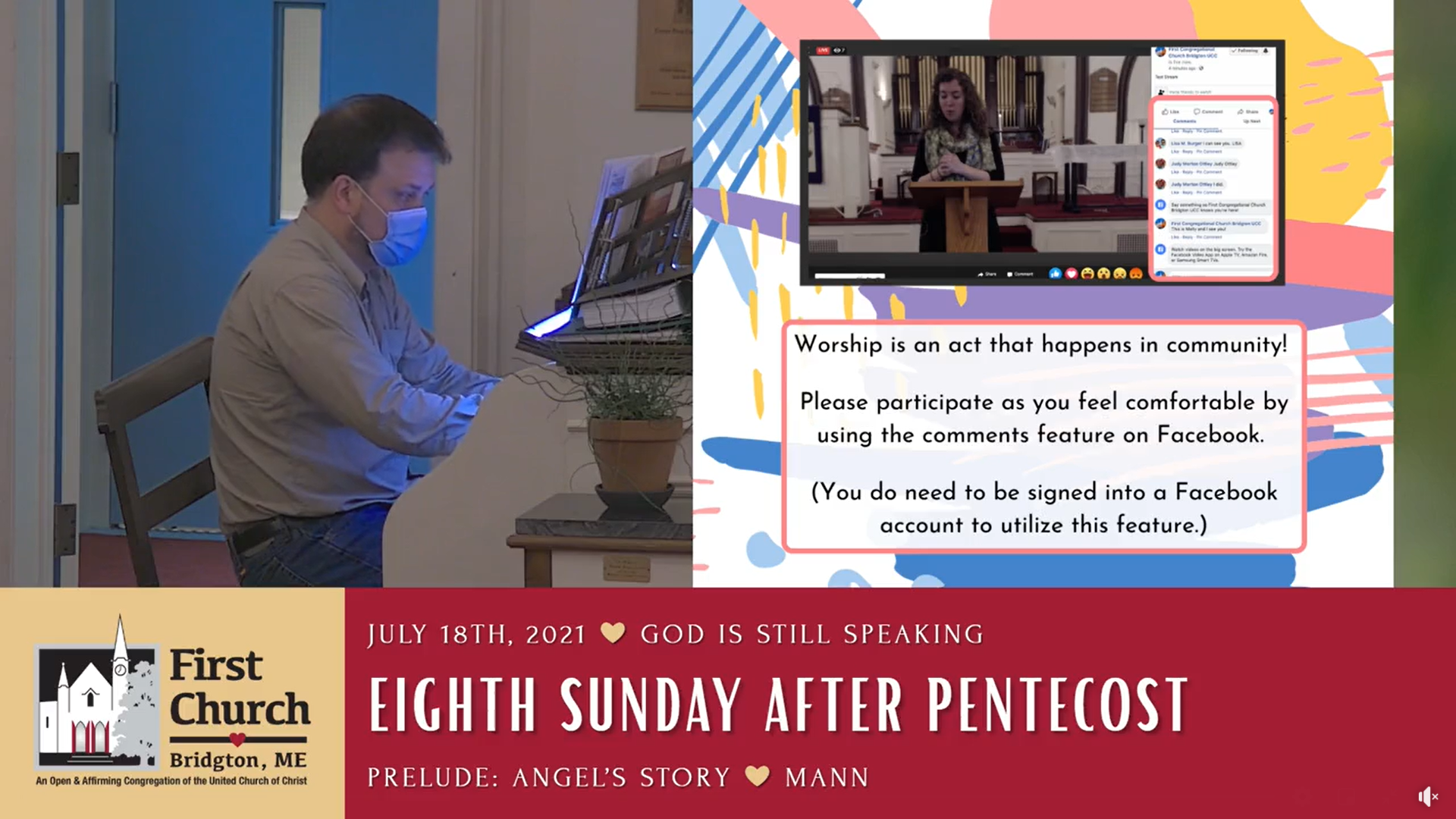 Click Here to watch Sunday's Service.