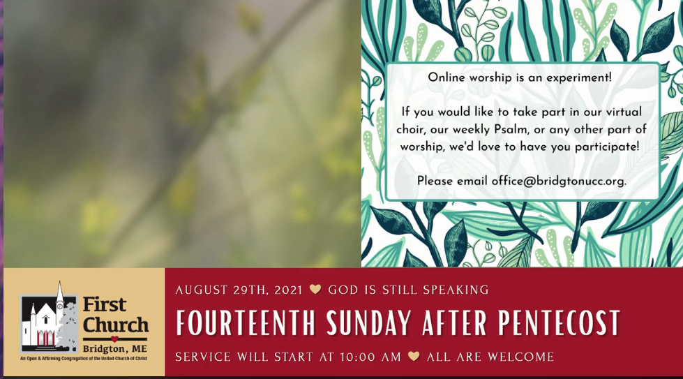 click here to watch Sunday's Service